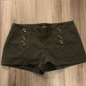 Express Army Green Shorts